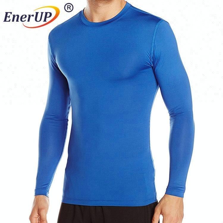 Long sleeve mock neck Compression Wear Copper Compression men Shirt