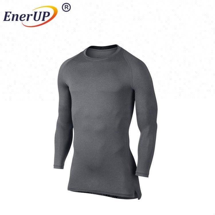 Mens Copper sports Wear Stretch Compression Top Shirt , Slimming Body Shaper Short Sleeve Shirt