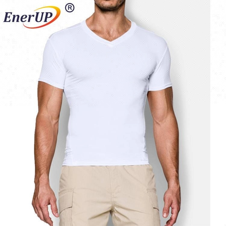 Men's Training Short Sleeve Quick Dry Base Layer Compression Shirt
