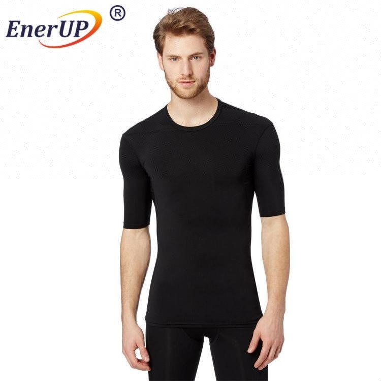 2017 Hot selling men's tight underwear custom long sleeve polyester t shirt quick dry wholesale