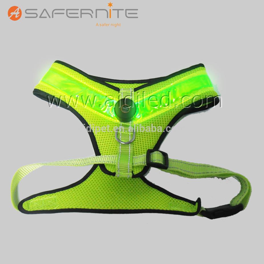 Adjustable LED Dog Vest Flashing Pet Harness