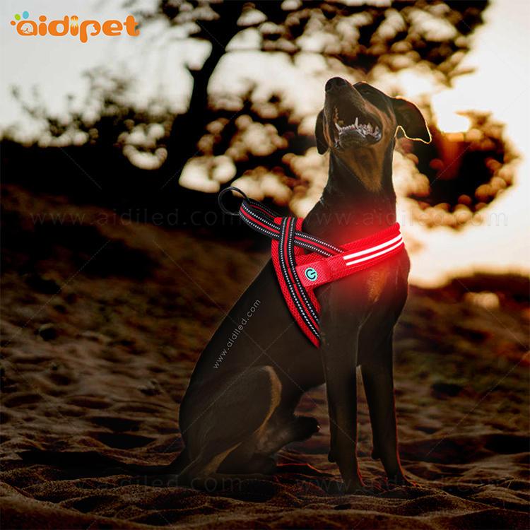 Wholesale Adjustable No Pull Soft Nylon Reversible Mesh Backpack Custom Service Pet Dog Harness Vest