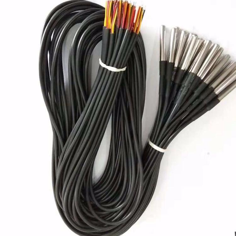 Temperature Line Stainless Steel Package Waterproof Digital Temperature Sensor Probe DS18b20