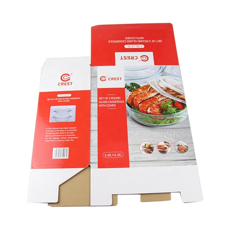 High Borosilicate Glass Bowl Paper Packaging Box A4 Paper Carton Box For Phone Case