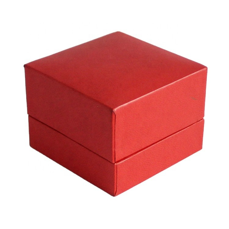 new product wholesale custom luxury square jewelry engagement gift ring box with logo 7x7x5.2cm