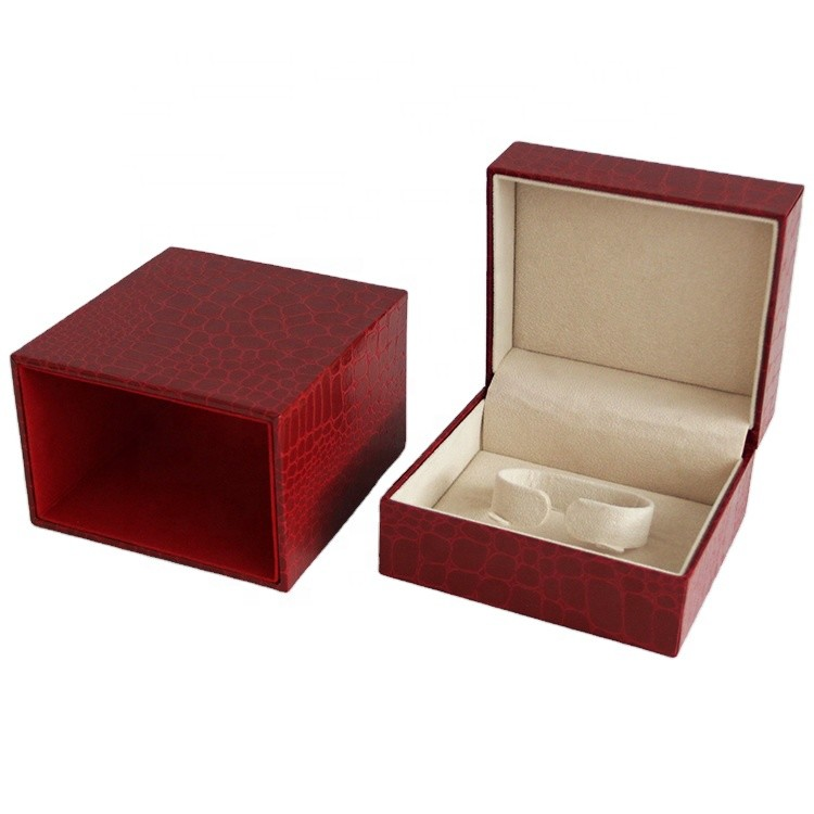 wholesale red color elegant style luxury bracelet gift packing boxes 12x11.5x7.7cm