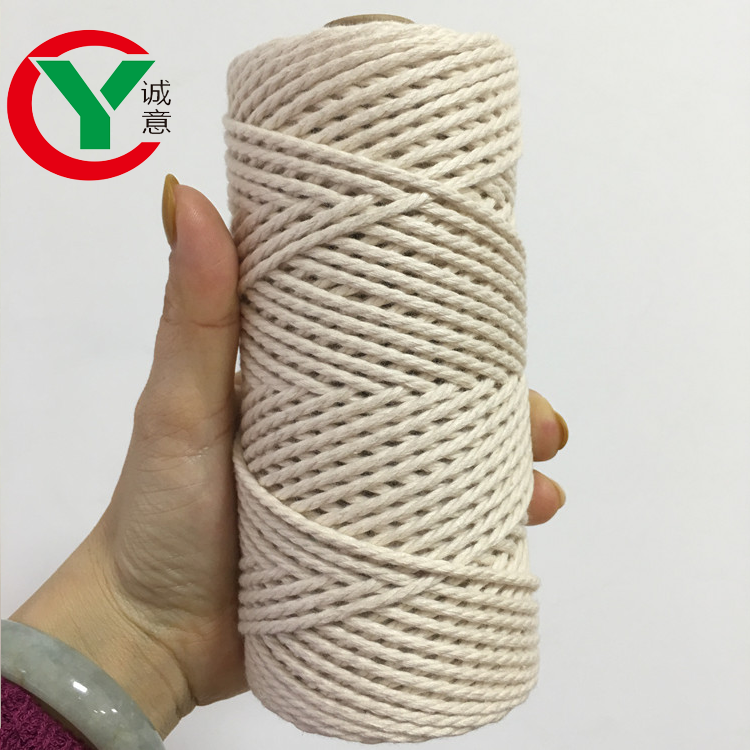 white braided twisted Macrame Cheap Rope Cotton Cord 2mm 3mm 4mm 5mm/wholesale macrame organic cotton twisted cord