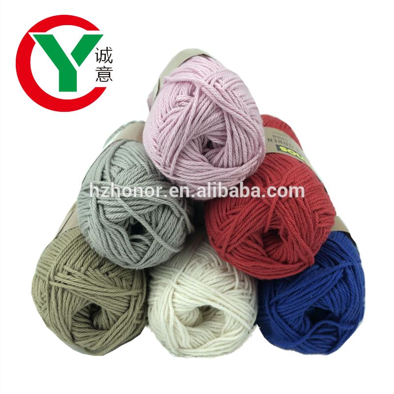 Wholesale crochet yarn 100%cotton /acrylic/Polyester knitting yarn Hand knitting yarn