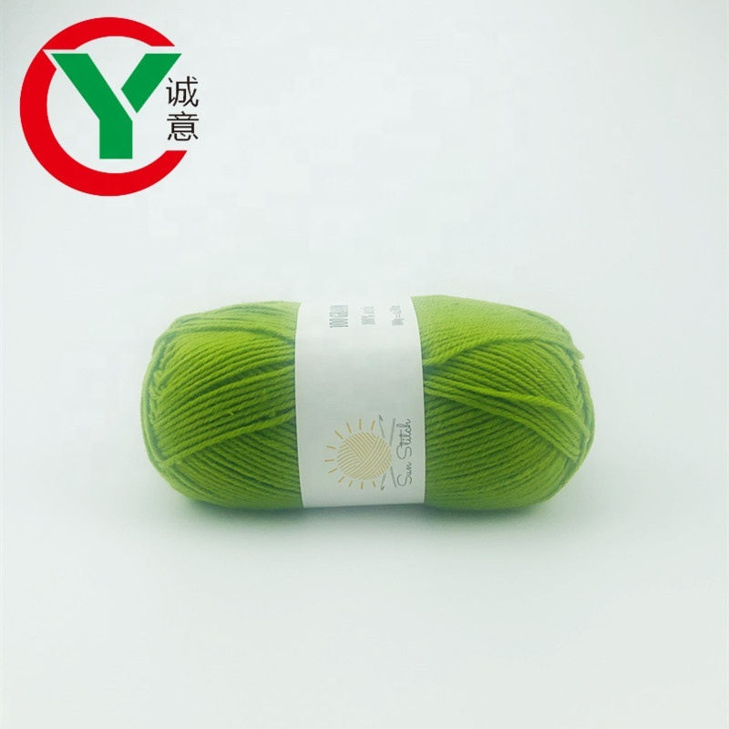 wholesale 4 ply 100% acrylic yarn ballfor hand knitting baby sweater/ socks yarn