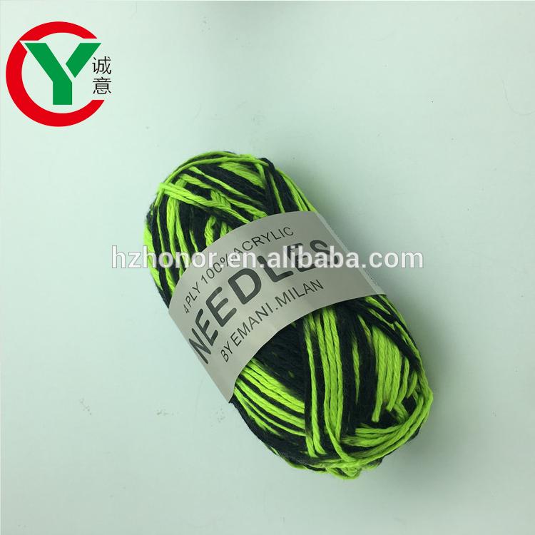 Wholesale Space dye 100%Acrylic knitting yarn DIY crochet yarn used for knit