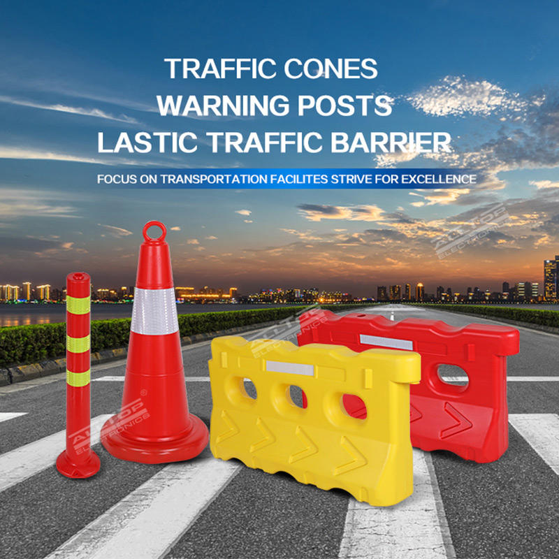Blowing Plastic Roadway Safety Barricades Blocker Water Filled Traffic Barrier