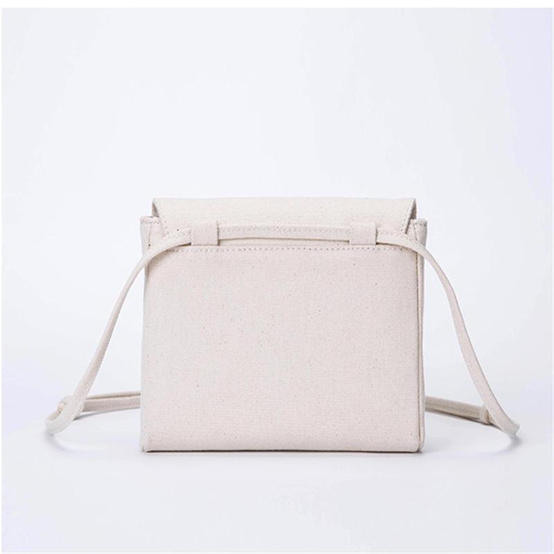White Canvas Bag Shoulder Messenger Fairy Small Square Bag Temperament Wild Casual Bag