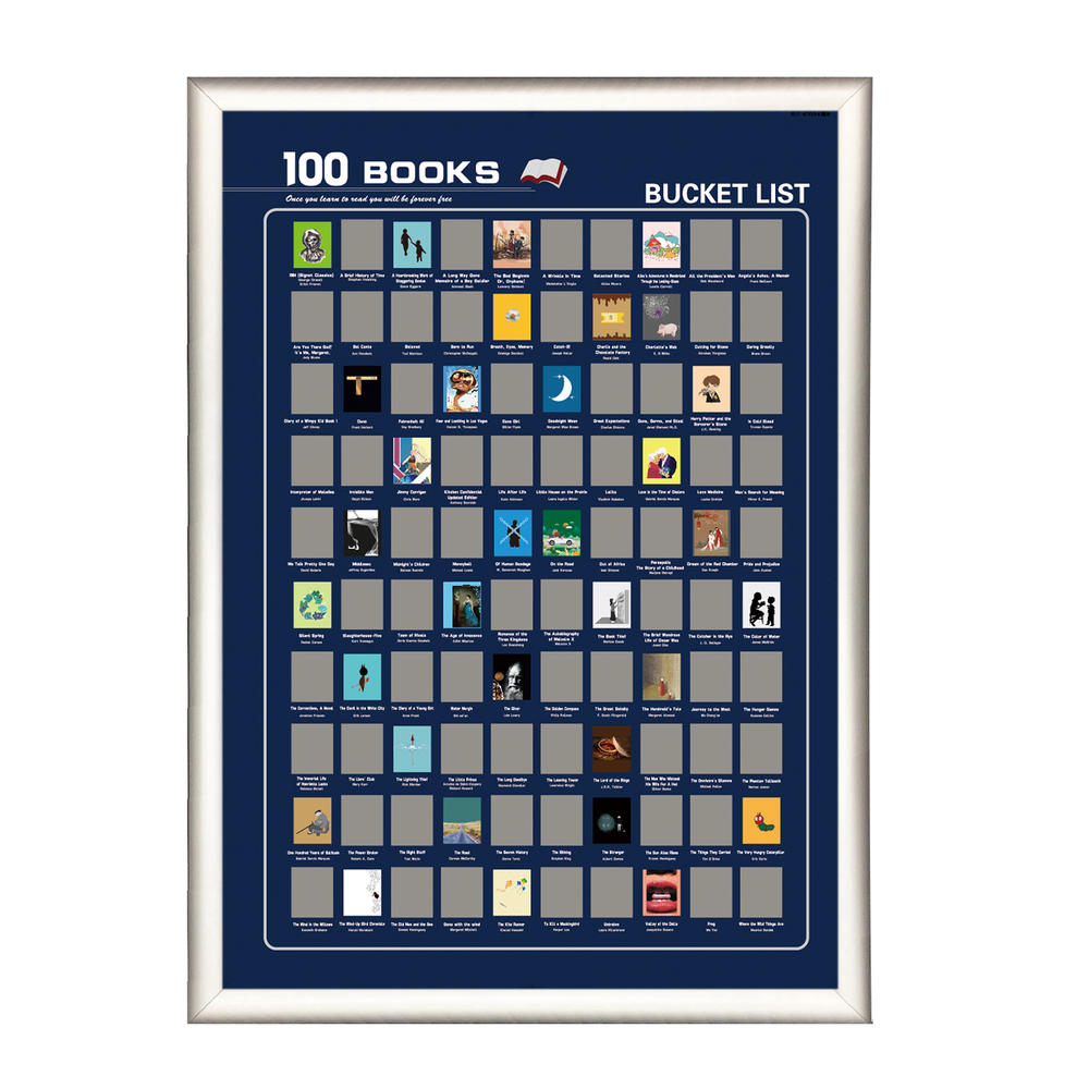 OEM Orders Customized Printed Scratch off poster 100 Books 100 Movies 100 BeersScratch Off Bucket List