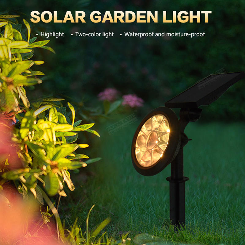 ALLTOP Christmas Hot Selling Solar Garden RGB Colorful Changing LED Light