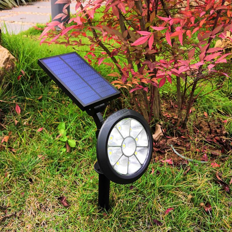 ALLTOP New Solar Spotlight LED Landscape Lamps solar Garden lights with RGB change
