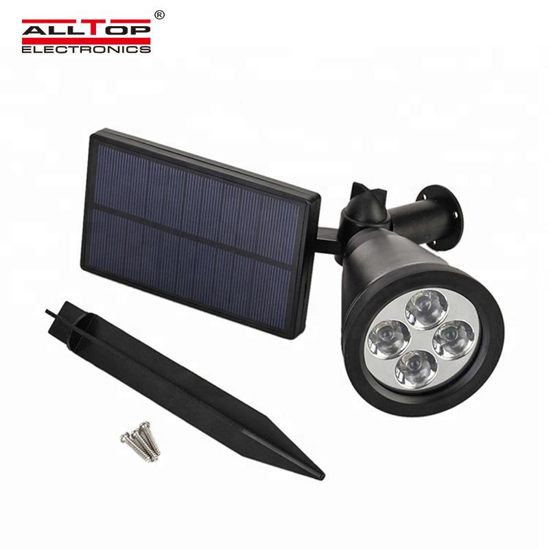 ALLTOP Factory direct sale outdoor garden landscape waterproof IP65 7w RGB solar LED spike lighting