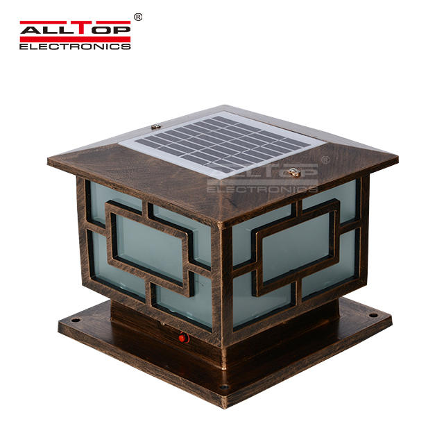 4w high quality fancy main solar gate post pillar light