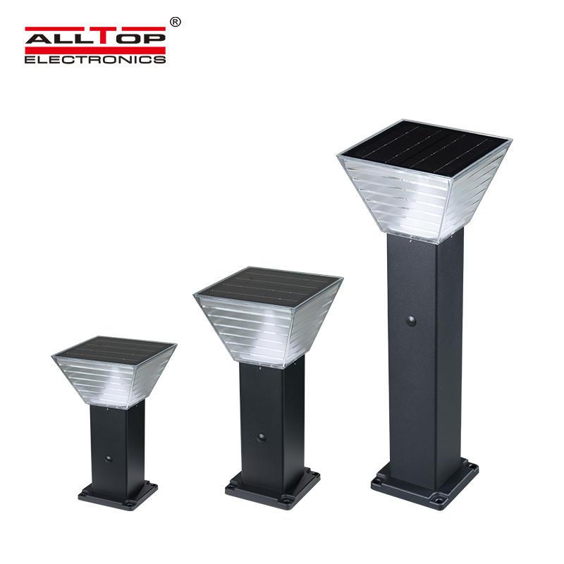ALLTOP High quality Aluminum PC waterproof long time lighting IP65 outdoor 5 watt solar led garden light