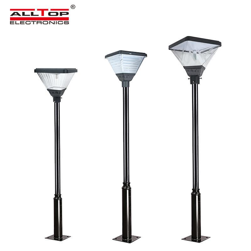 ALLTOP Hot sale outdoor lighting ip65 smd 20w led solar garden post top light