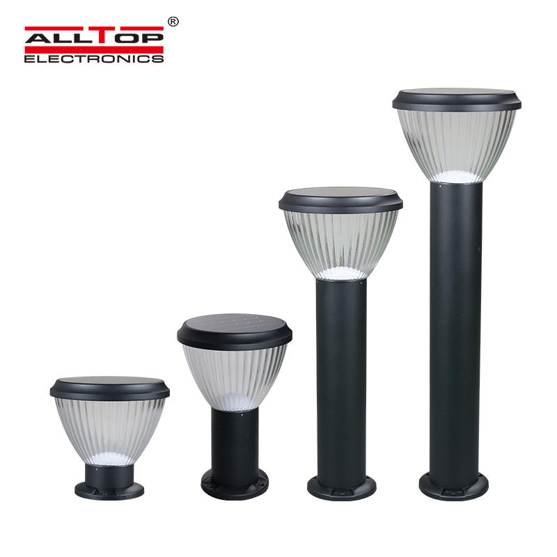 ALLTOP High performance portable ce rohs ip65 waterproof 5w solar chargeable led garden light