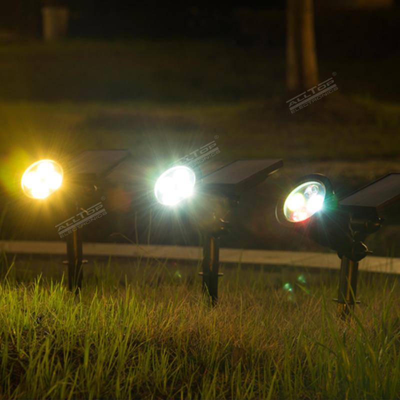 ALLTOP Adjustable 4W Outdoor Garden Spike Spot Light Waterproof RGB LED Spike Light