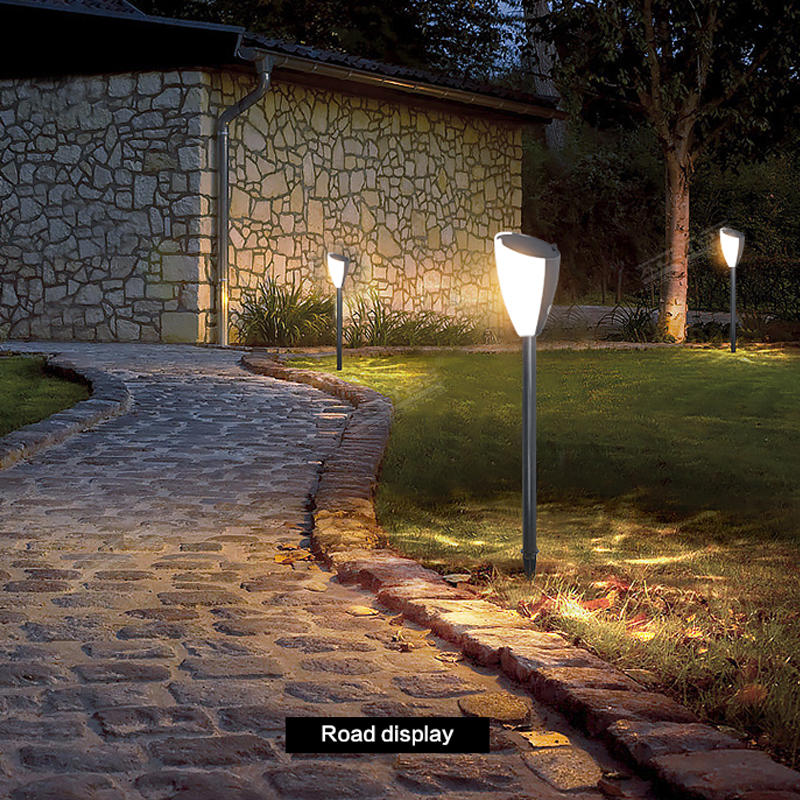 ALLTOP High Lumen ABS plastic LED Solar Yard Garden Lawn Landscape Lighting Waterproof Solar Outdoor Path Light Music Lamp