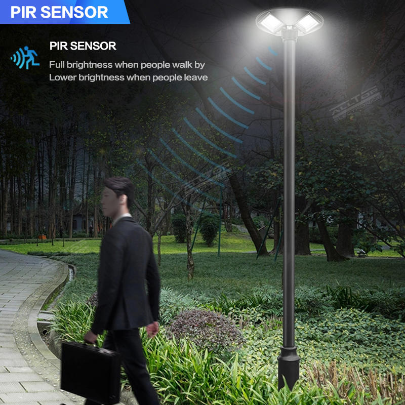 ALLTOP Best quality outdoor ABS waterproof ip65 all in one 300 500 watt solar powered garden lights