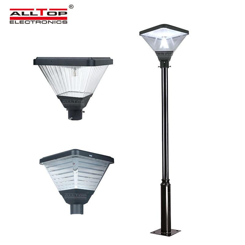 ALLTOP Hot selling type outdoor post top pole modern Led area parking lot solar led garden light