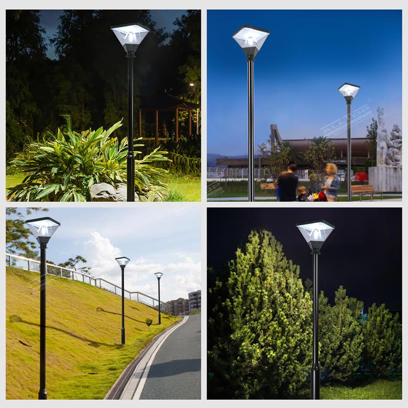 ALLTOP Solar led garden lighting yard pole lamp outdoor 20w led post top area light
