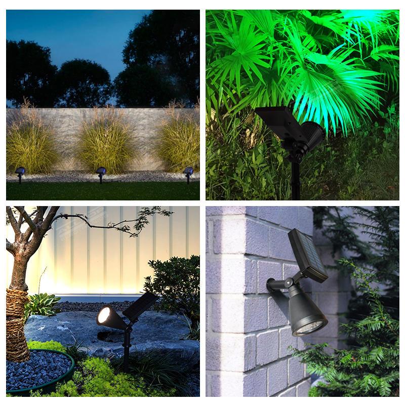 ALLTOP High effciency outdoor waterproof RGB LED solar spike light for garden