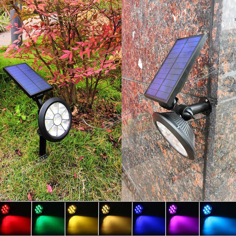 ALLTOP Christmas new house decoration led light 7 color rgb lighting solar powered yard garden lamp
