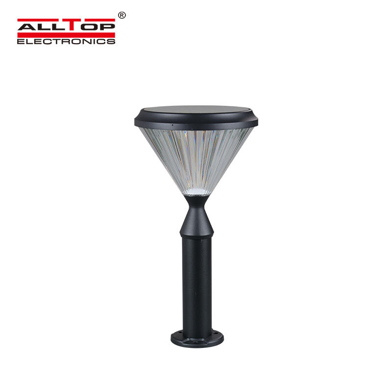 ALLTOP Modern IP65 Aluminum 5W Outdoor Led Bollard Light Waterproof All In One Solar LED Garden Lawn lamp