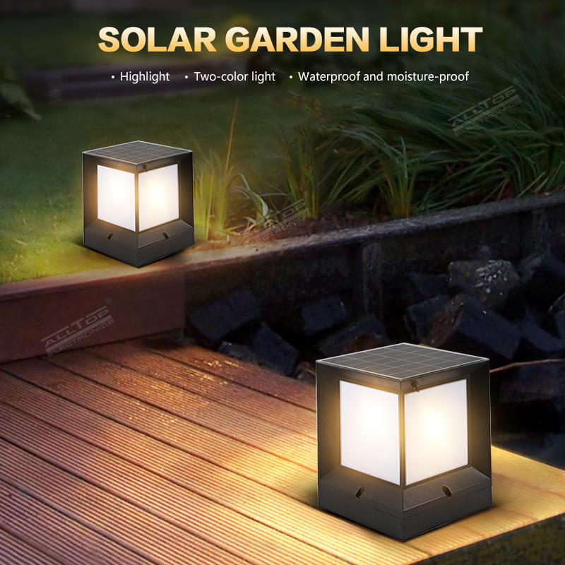 ALLTOP Energy saving double light source garden light waterproof 10w solar power led garden light