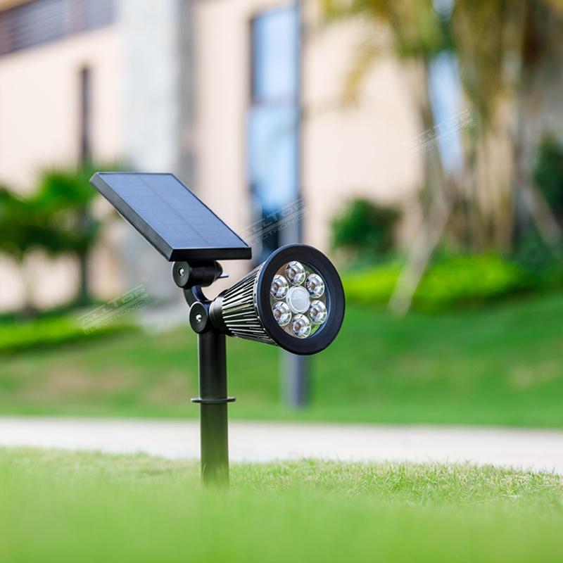 ALLTOP Fashionable design easy installation outdoor waterproof IP65 garden courtyard RGB solar LED spike light