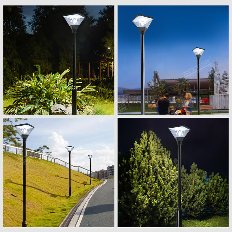 ALLTOP Outdoor waterproof ip65 smd 20w led solar post top garden light for park road lighting