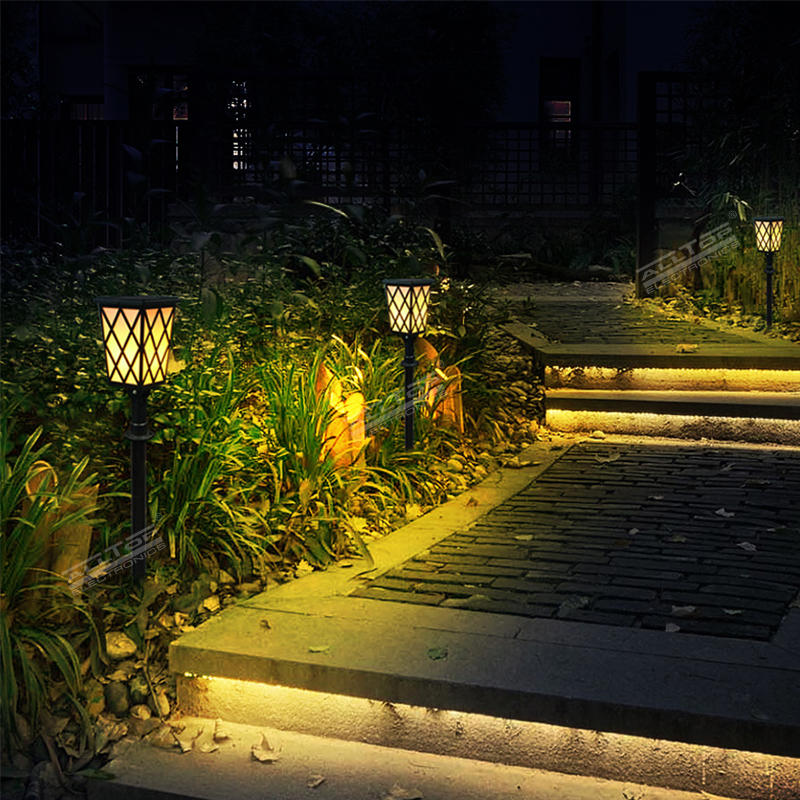 Hot selling Led bulbs flame lighting Christmas ground stake 5w solar outdoor garden light