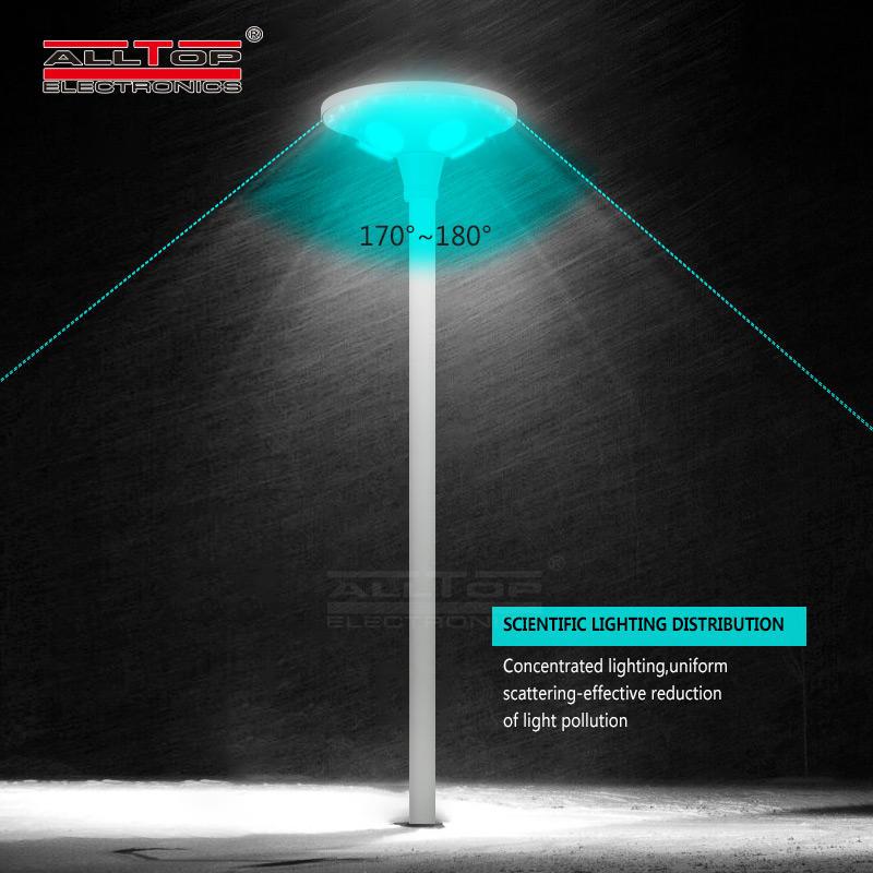 ALLTOP High quality waterproof outdoor park road lighting ip65 30 60 w led solar garden lamp