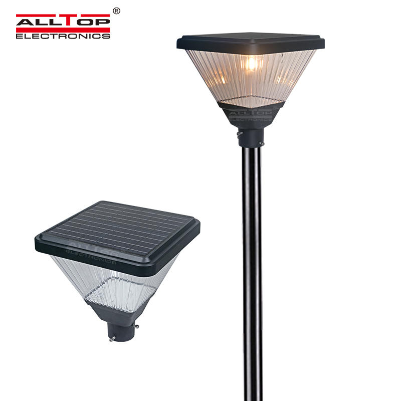 ALLTOP Solar led garden lighting yard pole lamp outdoor 20w led post top area light