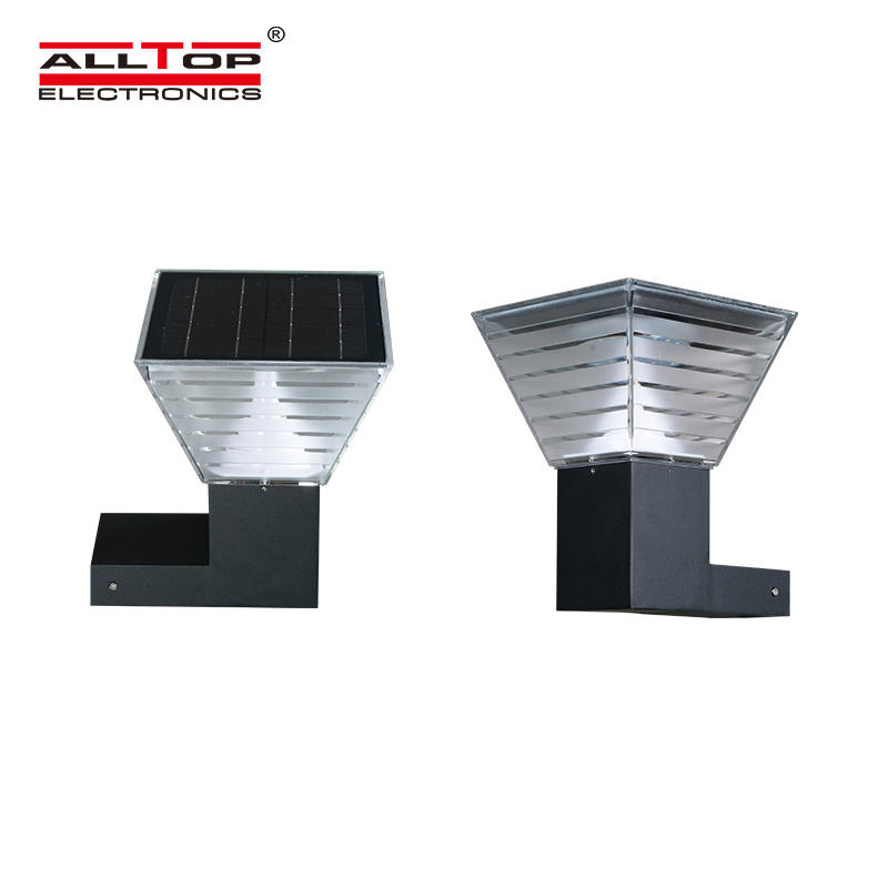 ALLTOP Waterproof outdoor 5w integrated solar panel powered garden led landscape lawn yard lighting