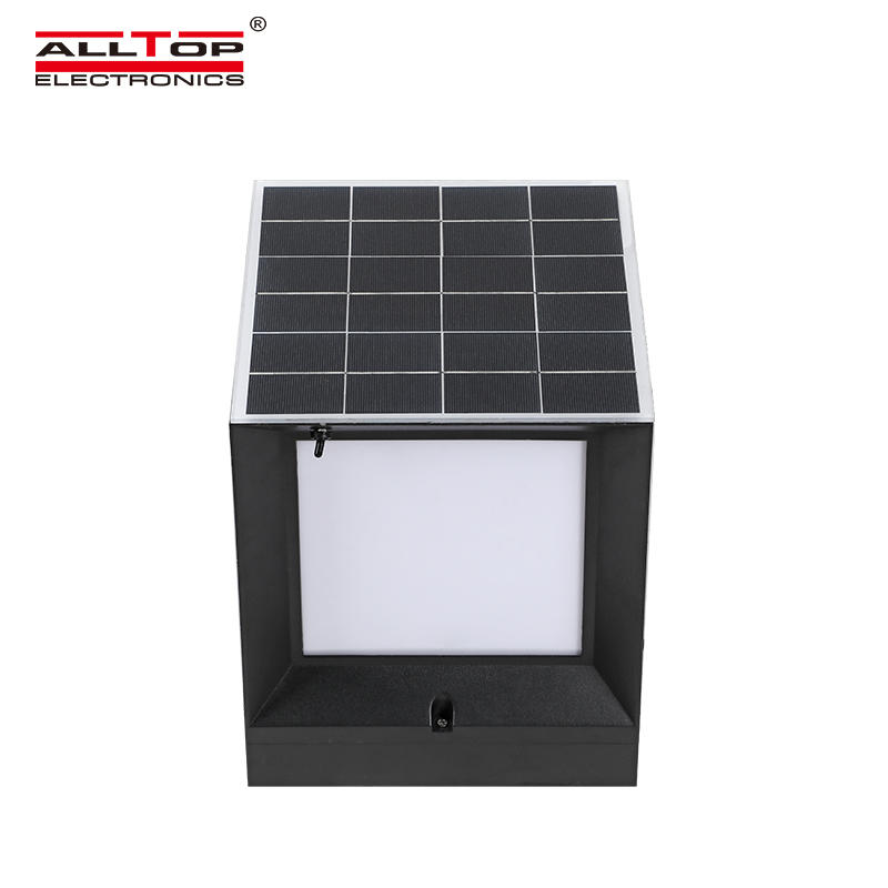 ALLTOP Modern design minimalistic double light source solar led garden light