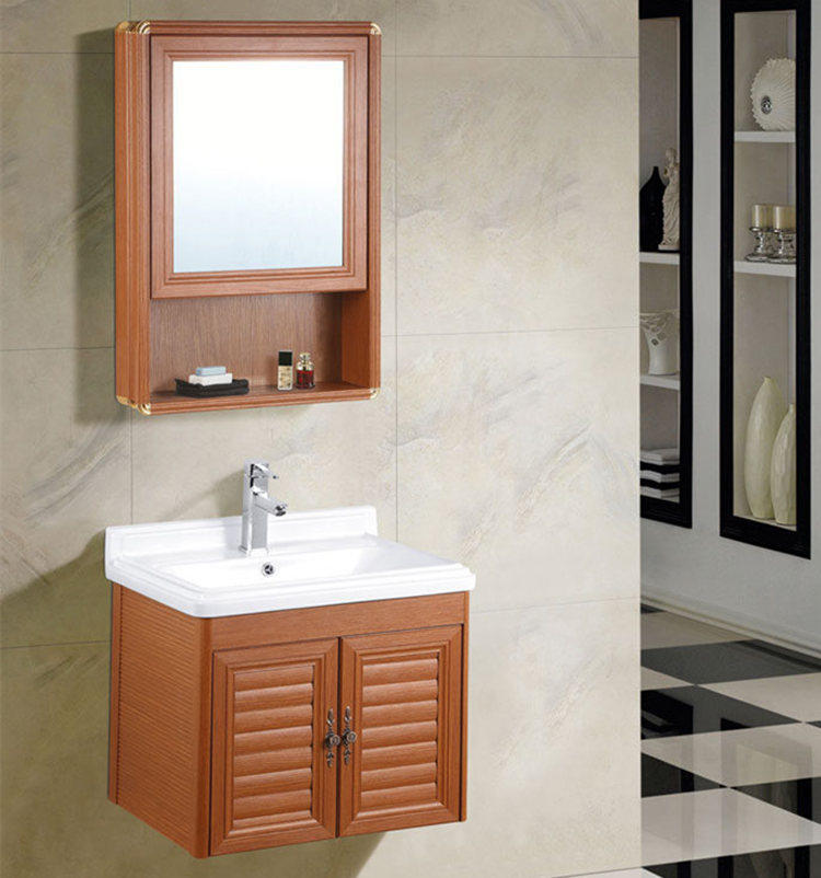 Manufacturer supply small design economic wall hung cheap single bathroom vanity