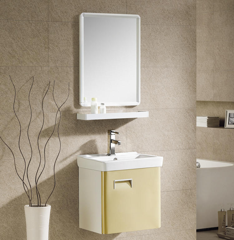 Aluminum small bathroom vanity cabinet with sink