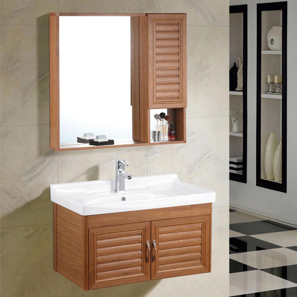 Modern hotel wall hung bathroom vanity cabine with single basin cabinet