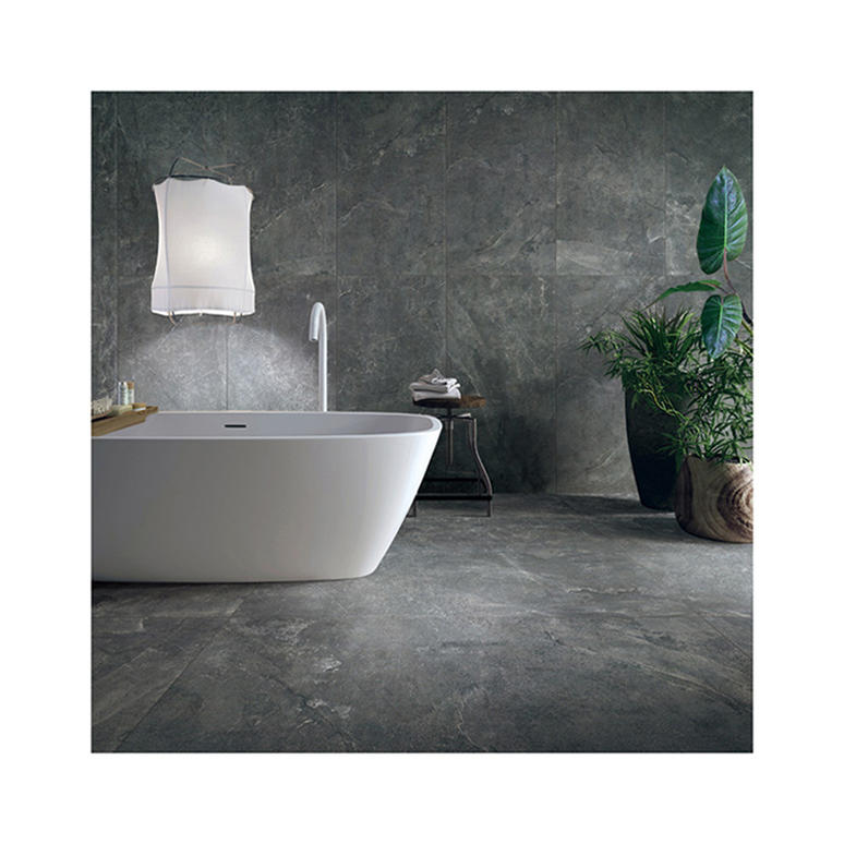 Large Ceramic Floor Tiles Dark Grey Rustic Bathroom Tiles