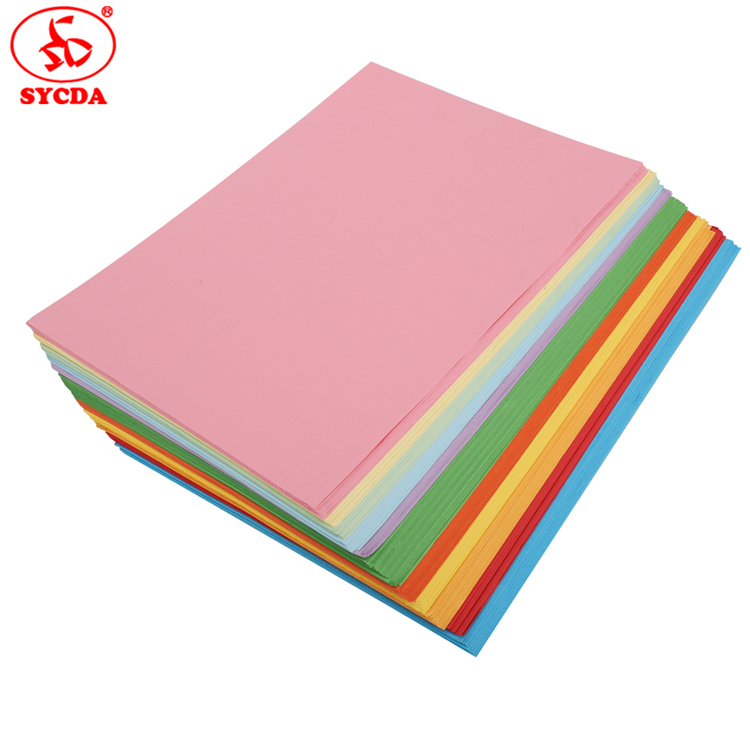A4 size factory sale good quality color woodfree paper
