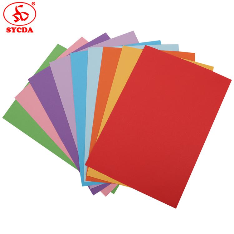 Factory sale A4 size 150g colorful woodfree color copy paper