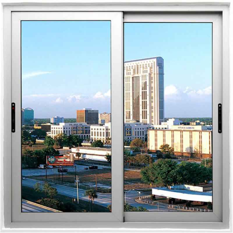 1200*1000 mm Aluminum sliding Single Glass window For Office/Home