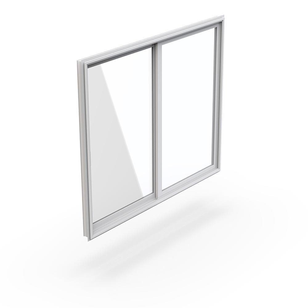 High Quality Aluminum Frame Powder Coating Factory Price Double Glass Aluminum Sliding Window