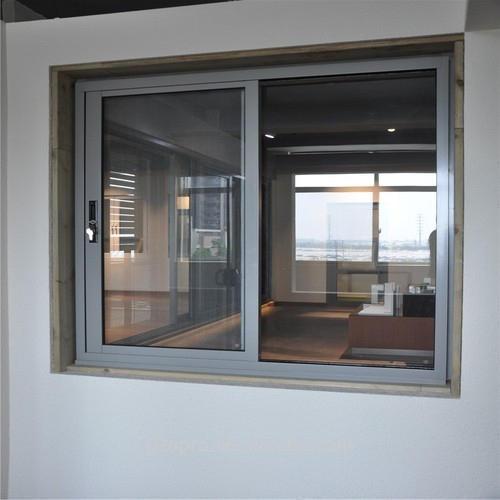 Wood Grain Color Aluminum Frame Powder Coating Ready To Ship High Quality Aluminum Sliding window