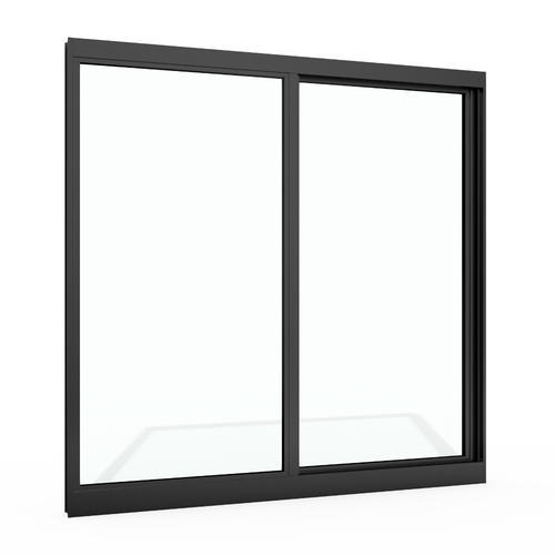 Black Color Double Glass 5mm+9 Airspacemm+5mm Sound Insulation Aluminum Sliding Window